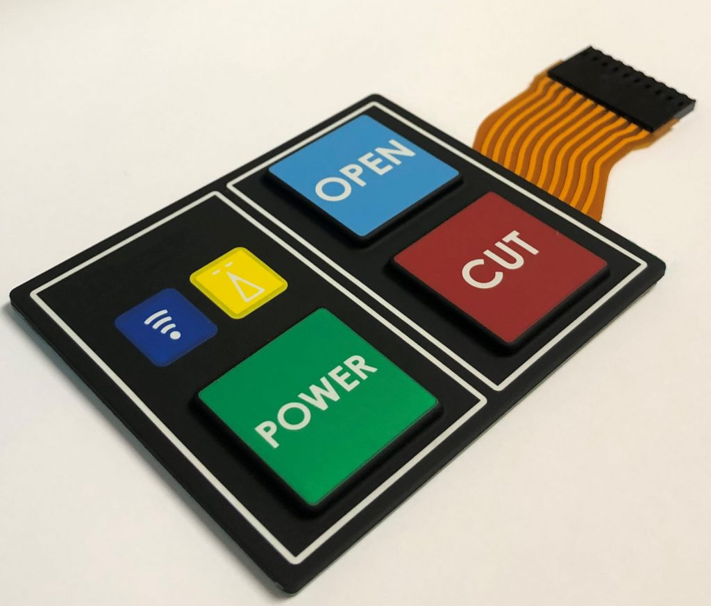 Rubber Keypad for Industrial Control